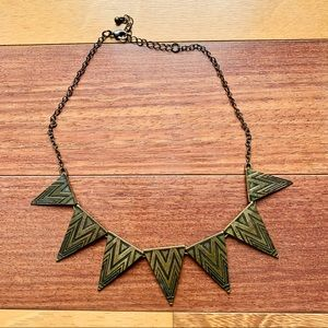 Bronze/Gold Triangle Statement Necklace